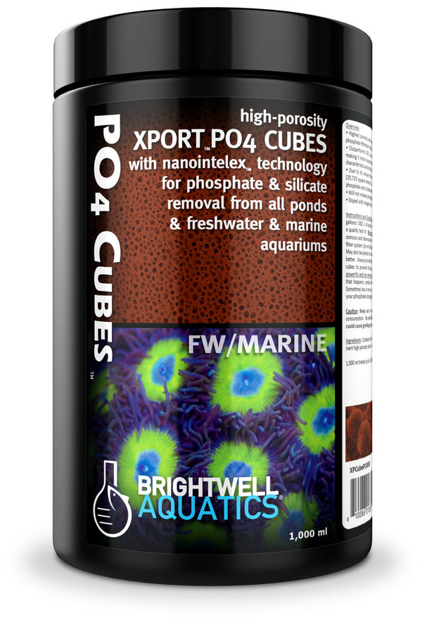 Brightwell Xport PO4 Cubes 250ml ultra aktiviertes Phosphat-Adsorptionsmedium